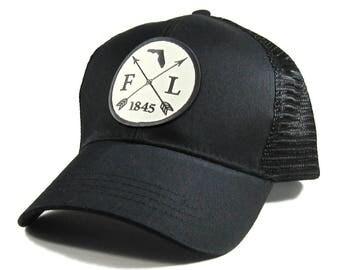 Homeland Tees Florida Arrow Hat - All Black Trucker