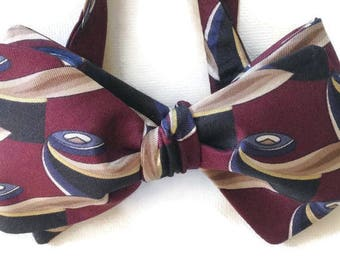 Silk Bow Tie for Men - Prince - One-of-a-Kind - Handcrafted, Self-tie - Free Shipping