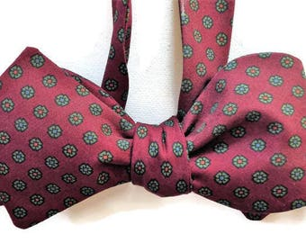 Silk Bow Tie for Men - Master - One-of-a-Kind, Self-tie - Free Shipping