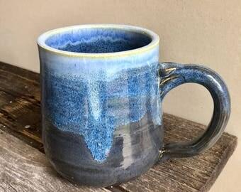 Large Mug Ceramic Handmade wheel thrown pottery 23oz stout mug