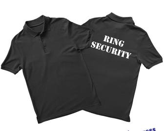 Ring Security Shirt. Ring Security Polo Shirt with personalization option. Ring Bearer Wedding Gift. Custom Polo Shirt. Custom Polos.