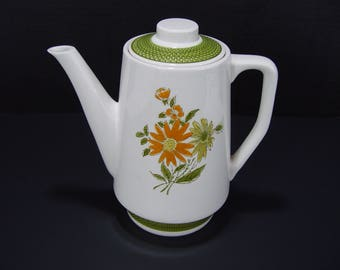 Bellegay Ironstone Teapot 4292 Green and Orange Floral