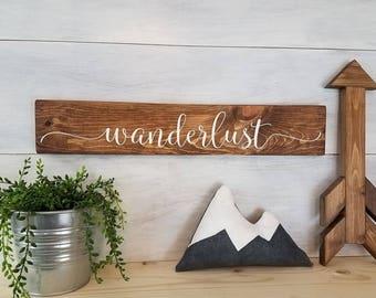 Wood Sign, Wanderlust Sign, Wanderlust Decor, Travel Sign, Adventure Sign, Inspirational Sign, Gallery Wall Decor, Rustic Home Decor