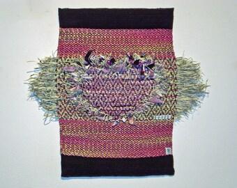 Purple Heart Mixed Media Tapestry
