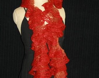 fancy frou-frou 72% mohair scarf