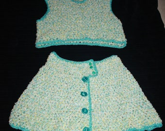 for the beach top and skirt set