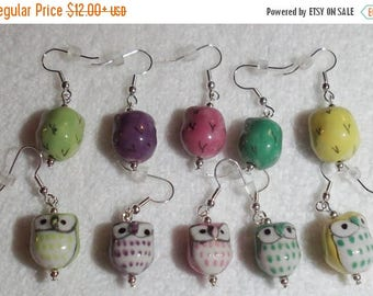 CLEARANCE Owls Charms Earrings by Woven Beads
