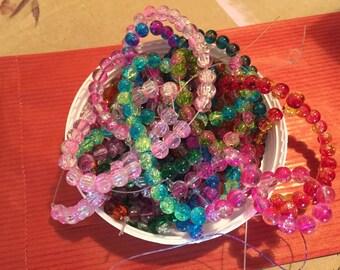 Glass bead double color 1 cm