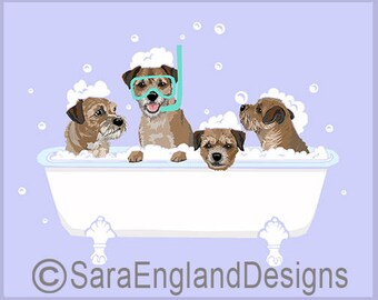 Spa Day - Border Terrier