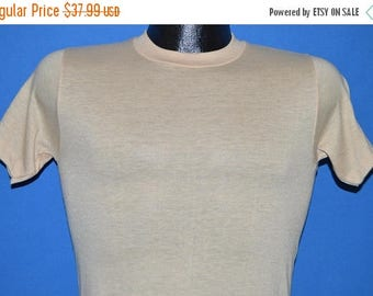 ON SALE 80s Stedman Beige Blank t-shirt Youth Large