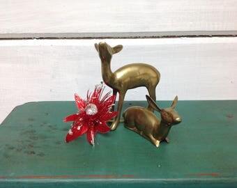 Vintage Brass Deer / Does