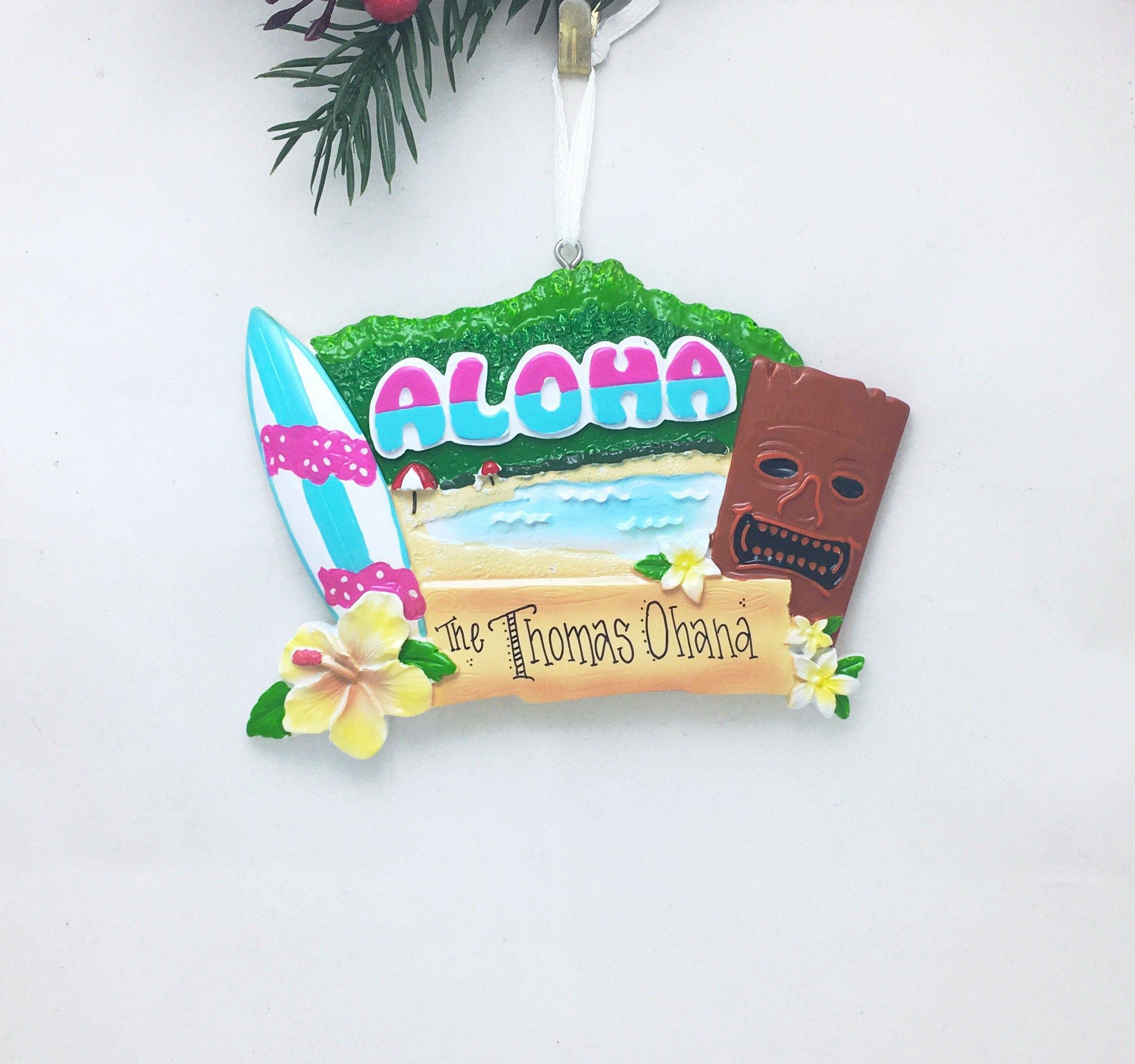 Hawaii Personalized Christmas Ornament  Hawaii Ornament  Hawaii