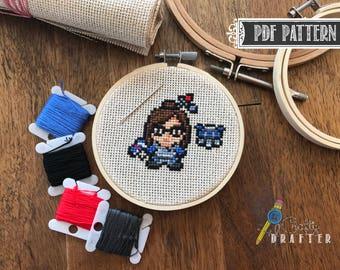 Overwatch Mei Cross Stitch Pattern