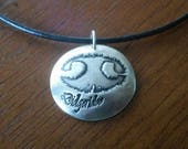 Your Pet's Prints! Custom Print Jewelry - 1 Necklace and 1 Bracelet