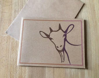 Sending you a little goat to say hello - Greeting Card