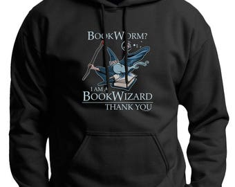 Book Worm? I'm a Book Wizard Thank You Premium Hoodie Sweatshirt F170 - WRS-815