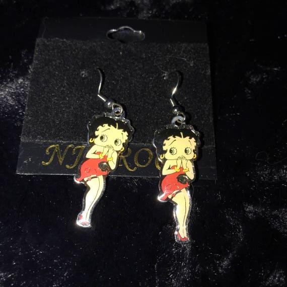 Betty Boop Flirty Pose Earrings-great stocking stuffer; )