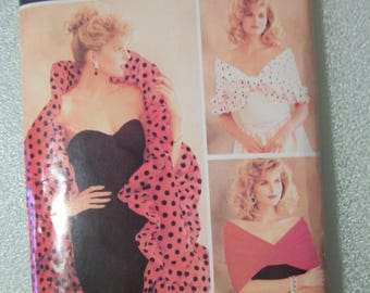 Butterick 6982 Misses Scarf, Drape and Shawl.  Size 8 to 22.