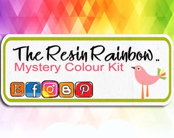 Mystery Colour Kit Mailout subscription, scrapbook embellishments, scrapbook supplies, cardmaking decorations, resin embellishments,
