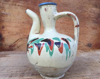 Old Ceramic Earthenware Pot,Kınık Terracotta Pots.Antique Pottery,