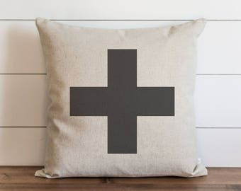 Swiss Cross 20 x 20 Pillow Cover // Everyday // Throw Pillow // Gift // Accent Pillow // Cushion Cover