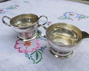 Creamer and Sugar - Sterling Silver - Vintage