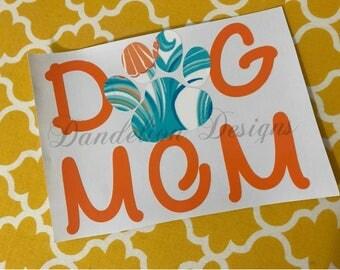 Dog Mom Decal YETI Car Tumbler Window Phone Furbaby Fur Kids Pets
