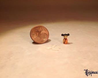 Miniature Kokeshi Made of wood - Item Number K14