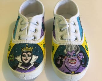 Toms, Vans, or Converse Villains custom shoes. Any size.