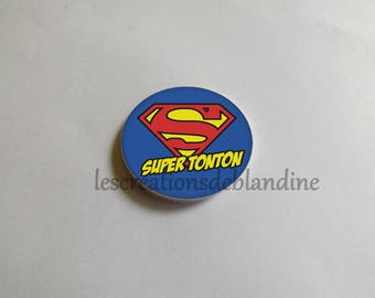 """special magnet """"great uncle"""" it measures 5.8 cm in diameter, customization possible on request"""