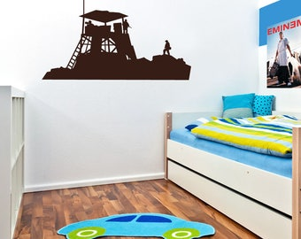 Military Combat Base Wall Sticker A45