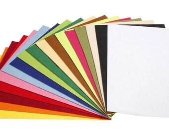 4 x craft felt, 3mm, 375 x 500 mm, * color choice *  (1427)