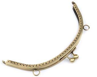 Purse Frame, 19 cm, Antique Brass (1240)