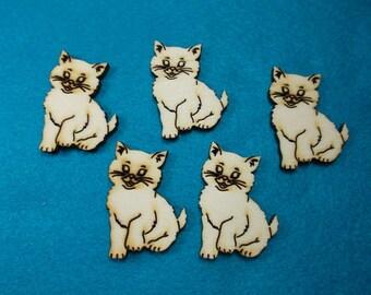 5 Cats, wood, 4 x 3 cm (10-0016B)