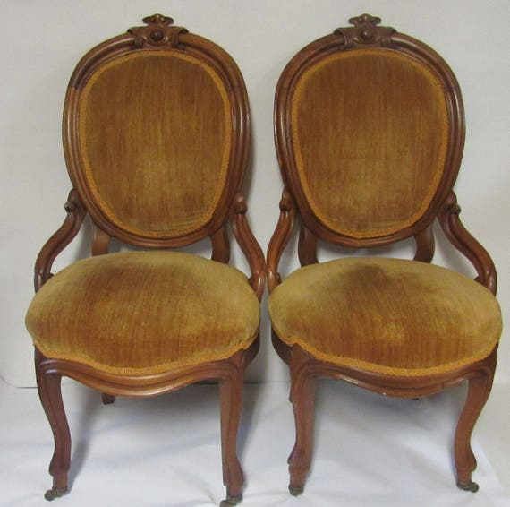 Victorian Rococo Chairs pair