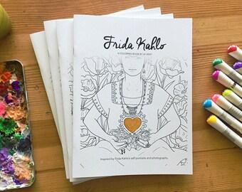 Frida coloring book | Etsy