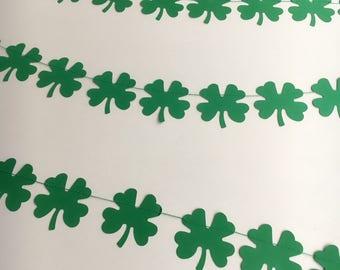 St Patricks Day garland, Clover garland, 4 Leaf Clover Garland, Birthday Party, Wedding Garland, Photo Prop,