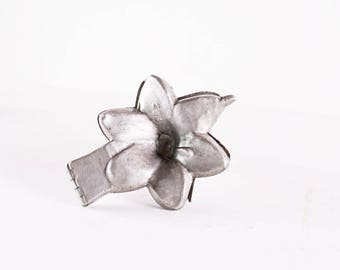 Floral Pewter Mold, Antique Ice Cream Mold, Pewter Ice Cream Mold, Lilly Flower Mold, Ice Cream Flower Mold, Eppelsheimer 354