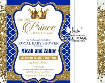 Royal Prince Baby Shower Invitation, Little Prince Invitation, Little King  Invitation   Digital File