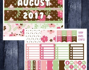Weekend Sale August Monthly Stickers for New Erin Condren Life Planner
