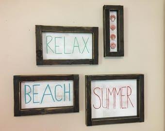 Summer Beach Sign Set