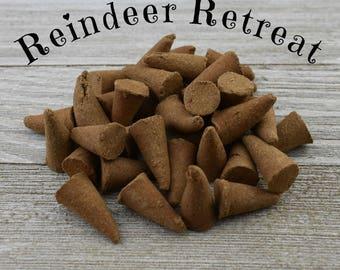 Reindeer Retreat Incense Cones - Hand Dipped Incense Cones
