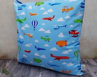 "Aeroplane nursery/bedroom cushion 15"""