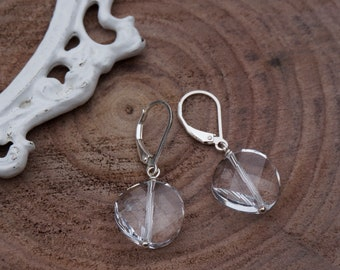 Swarovski Crystal Earrings / Crystal and Sterling Silver Earrings / Swarovski Crystal and Silver Earrings / Crystal Earrings / Clear / Gwen