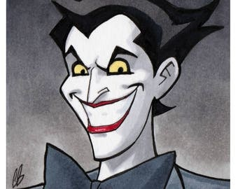 The Joker Animated Copic Marker Sketch Card