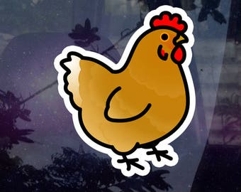 """BACK ORDERED Chubby Chicken 3.5"""" Sticker [Outdoor Quality]"""