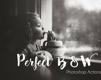 Perfect Black & White Photoshop Action