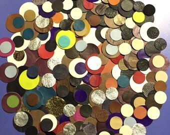 Leather Circles / Leather Scraps / Leather Pieces / 200 Pcs Leather / Colorful Leather / Leather Earrings / Leather Decoration / Art Deco