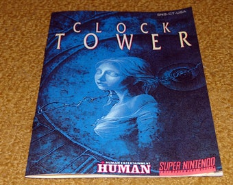 Custom made Clock Tower Super Nintendo manual