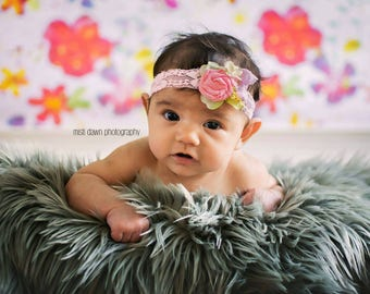 Newborn girl spring headband baby photo props spring props stretchy elastic hair band, baby girl outfit newborn photography baby girl outfit
